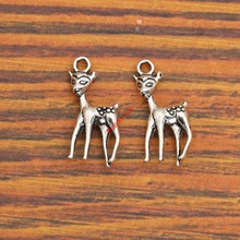 Buy 10pcs Sika Deer Charm Pendant fit Bracelet Necklace Tibetan Silver Plated Jewelry DIY Making Accessories 22x11mm for $1.06 in AliExpress store