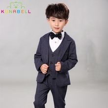 Children Performance Clothes Brand Boys Formal Suits Wedding Birthday Party Tuxedo Jacket Waistcoat Shirt Pant Kids Blazer F19