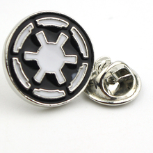 Movie Jewelry Star Wars Silver Plated Enamel Galactic Empire Logo Brooches Pins Cheap Wholesale Vintage Women Men Brooch Pins