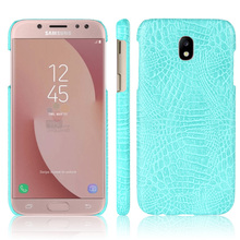 "Luxury Crocodile Skin PU leather Protective Cover For Samsung galaxy J7 2017 J730 SM-J730F 5.5"" Mobile phone Case for EU market(China)"