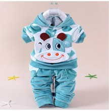 New 2016 Baby Clothing Set Cartoon Kids Apparel Boys Girls Children Hoodies And Pant Children's Clothing Sets For Autumn(China)