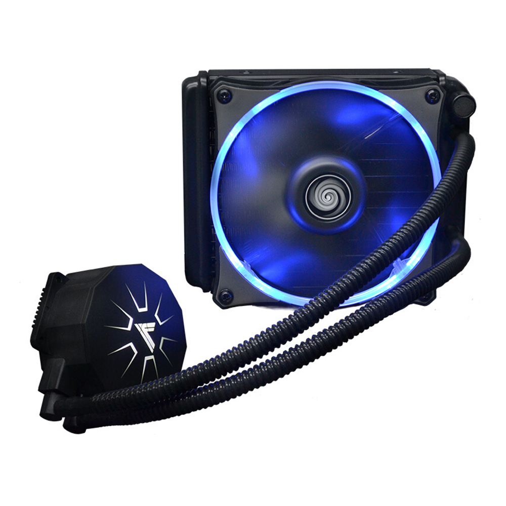 VTG120 Liquid Freezer Water Liquid Cooling System CPU Cooler Fluid Dynamic Bearing 120mm Fan with Blue LED Light CPU Cooling Fan(China (Mainland))