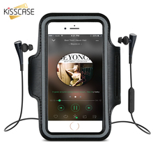 KISSCASE Arm Band Waterproof Gym Sports Jogging Running Cases 4.7'' 5.5'' for iPhone 7 6 6S Cases Arm Band for Xiaomi redmi 4x 4
