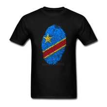 New Europe and Ameran Oversized Tshirt Youth Congo Flag Fingerprint Short Sleeve T Shirts O Neck Hombre shirts for mens