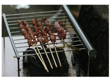 Light Weight Portable Stainless steel Camping BBQ Grill Folding BBQ Outdoor Cooking GL73234