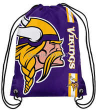 Minnesota Vikings Drawstring Bags Men Sports Backpack Digital Printing Pouch Customize Bags 35*45cm Sports US Fottball Team