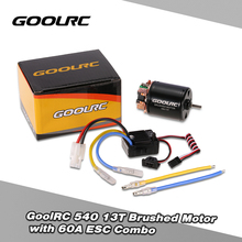 GoolRC 540 13T Brushed Motor with 60A ESC Combo for 1/10 Traxxas for Ford F-150 RC Car(China)
