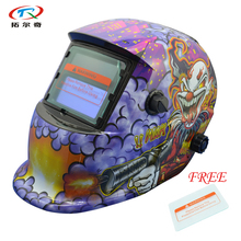 free Shipping Clown DIN13 Auto Darkening Welding Helmet For welder TIG MIG Welding Mask with 1pc protective glass HD03(2200DE)FS
