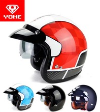 2016 New YOHE Harley style motorcycle helmet YH-859 retro motorbike helmets made of ABS can be installed bubble mirror 4 colors