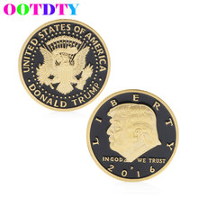 Donald Trump Design Commemorative Coin Zinc Alloy Commemorative Coin Collection No-currency Coins Gift Black Friday(China)