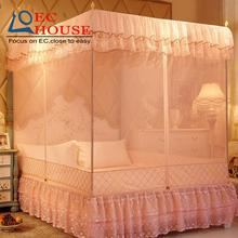 Mosquito nets three open zipper 1.8m Mongolia double square top stainless steel 1.2 meters home court 1.5m bed FREE SHIPPING
