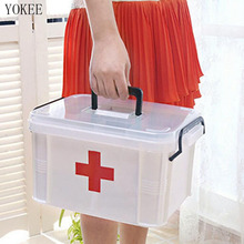 YOKEE Large Storage Box Family Home Medicine Chest Cabinet Health Care Plastic Drug First Aid Kit Box Chest of Drawers
