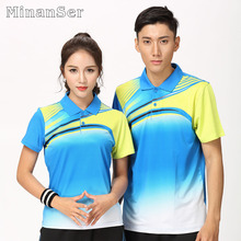 Custom Name Badminton wear shirt Women/Men's , sports Tennis shirt , Table Tennis t shirt, Quick dry sportswear shirt 8807