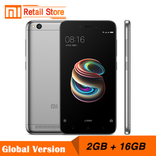 "Global Version Xiaomi Redmi 5A 2GB RAM 16GB ROM 5.0"" Snapdragon 425 Quad Core Mobile Phone 3000mAh Battery 13.0 MP Smartphone(China)"