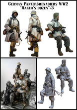 [tuskmodel] 1 35 scale resin model figures kit WW2 German soldiers panzer set1(China)