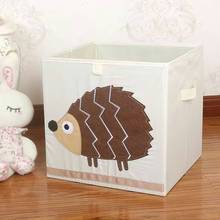 3D Embroider Cartoon Animal Folding Large Storage Box kid Toys Sorting box organizer Sundries books cotton clothes storage bin