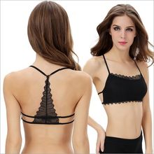 Women Lace Bralette Sexy Lingerie Back Hollow Out Crop Top Butterfly Design Camisetas Y TankTop for Women TP5304+40