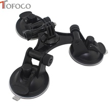 TOFOCO GoPro Car Windshield Triple Vacuum Suction Cup Mount Small Size Sucker for GoPro Hero 2 3 3+ 4 5 SJ5000 SJ4000 Xiaomi Yi(China)