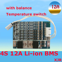 4S 12A 16.8V lipo lithium Polymer BMS/PCM/PCB battery protection circuit board for 4 Packs 18650 Li-ion Battery Cell w/ Balance