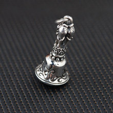 FNJ 925 Silver Elephant Pendant New Fashion Buddha 100% Pure S925 Solid Thai Silver Pendants for Women Men Jewelry Making(China)