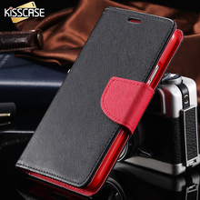 KISSCASE For Galaxy S4 Leather Cases Magnetic Flip Card Slot Holster Case For Samsung Galaxy S4 I9500 Leather Mobile Phone Cover