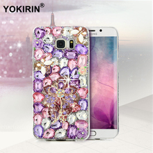 YOKIRIN Bling Crystal Diamond Case Rhinestone Cover For iPhone 5S SE 6 6S Plus For Samsung Galaxy S7 S6 Edge Plus S5 S4 A3 A3100(China)
