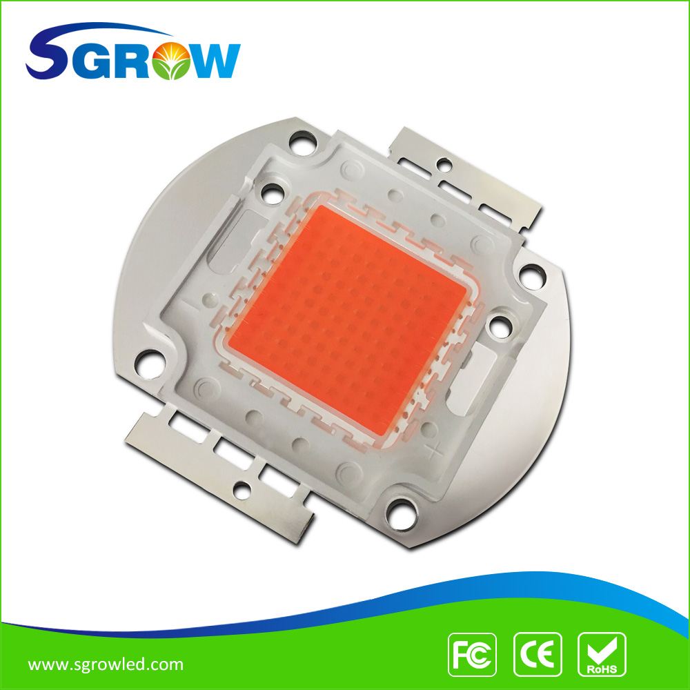 100w led replace 300w HPS, full spectrum 380nm~840nm led grow light chip for plant seeding grow and bloom ,DIY led grow light(China (Mainland))