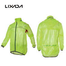Lixada Waterproof Cycling Jerseys Rain Coat Riding Raincoat Jacket Breathable Outdoor Clothes