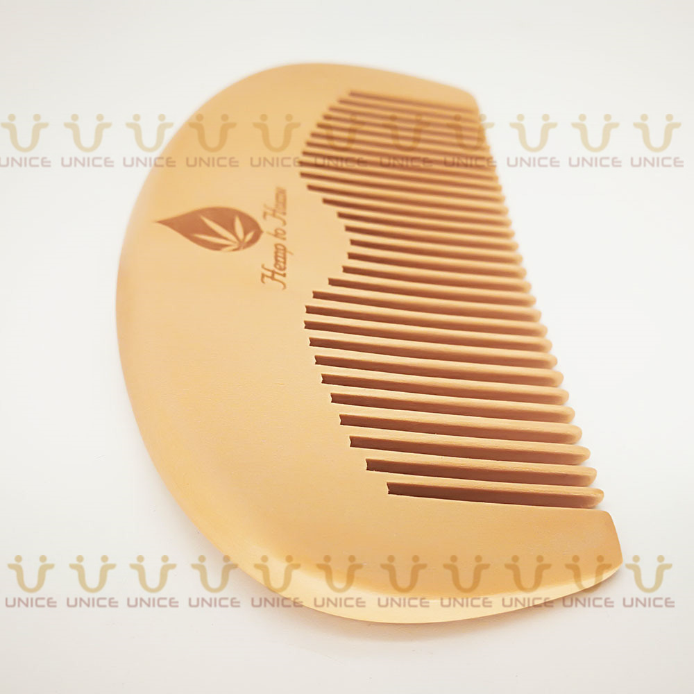 100pcs/lot Your LOGO Customized Private Label Combs Hair Beard Wood Comb for Men & Women for Barber Shop Retail Case 37