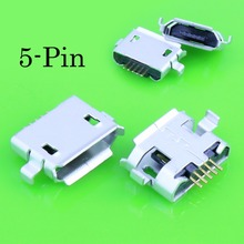 10 pcs 5pin socket Micro-usb connector, DIP 2 fixed feet, widely used in tablet, mobile phones and PDA(China)