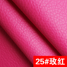 25# rose High Quality Faux PU Leather fabric like leechee for DIY sewing sofa table shoes bags bed material (138*100cm)(China)