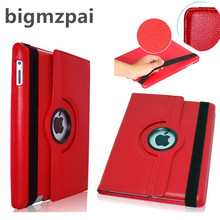 Cases For Apple iPad 2 ipad 3 ipad 4 tablet case Flip Stand pu Leather 360 Rotating Cover For ipad mini mini 2 mini 3 case+Film