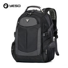 YESO Brand Laptop Backpack 2017 New Waterproof Men's Backpacks Large Capacity School Bag Oxford Black School Bags For Teenager