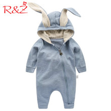 R&Z Baby Jumpers 2017 New Spring Autumn Cute Cartoon Zipper Rabbit Infant Girl Boy Jumpers Kids Baby Outfits Kids Clothes(China)