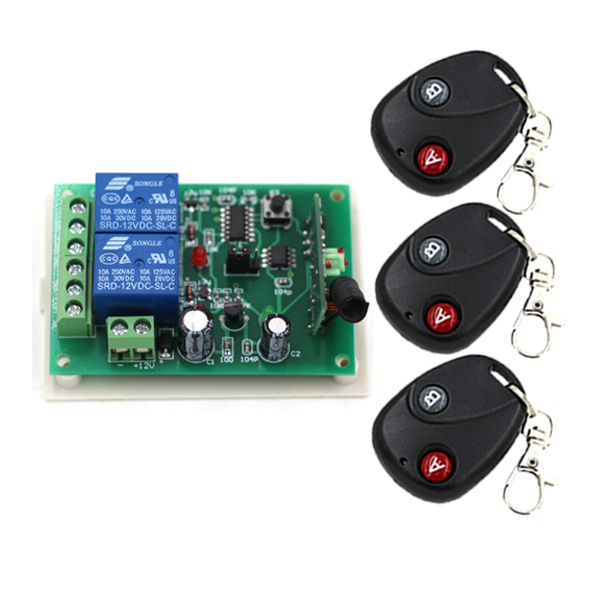 2 Channel RF Transmitter Receiver Wireless Output Remote Control Switch 12V 315mhz Relay Controller Learning Code SKU: 5162<br><br>Aliexpress