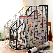 Metal Wire Design Ideas Magazine File Natural Storage Holder 33X13X38cm