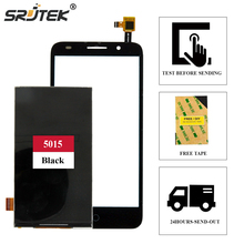 Srjtek For Alcatel One Touch Pixi 3 5.0 3G 5015 5015A 5015D 5015E 5015X 5016A Black Touch Screen Glass + LCD Display Screen