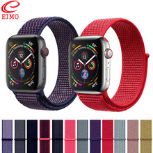 EIMO Sport Loop For Apple Watch band 4 iwatch band 42mm 38mm 44mm 40mm strap Soft breathable Nylon bracelet Watch Accessories(China)