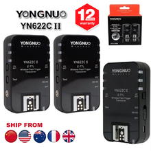 3PCS Yongnuo YN-622C II YN622C II Wireless TTL HSS Flash Trigger For Canon 70D 60D 550D 600D 650D 700D 750D 1000D 1100D 1200D(Hong Kong)