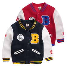 Boys baseball shirt thick coat jacket 2017 Autumn new Korean version of Zhongshan University Children's clothing baby 806 850