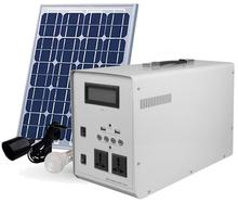 300W potable power station system mobile outdoor power charge house with solar panel set