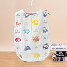 100% Pure Natural Gauze Swaddle Sleeping Bags Baby Boy Girl Sleep Sacks Infant Child Prevent Kicking Quilt Six Layer Gauze(China)