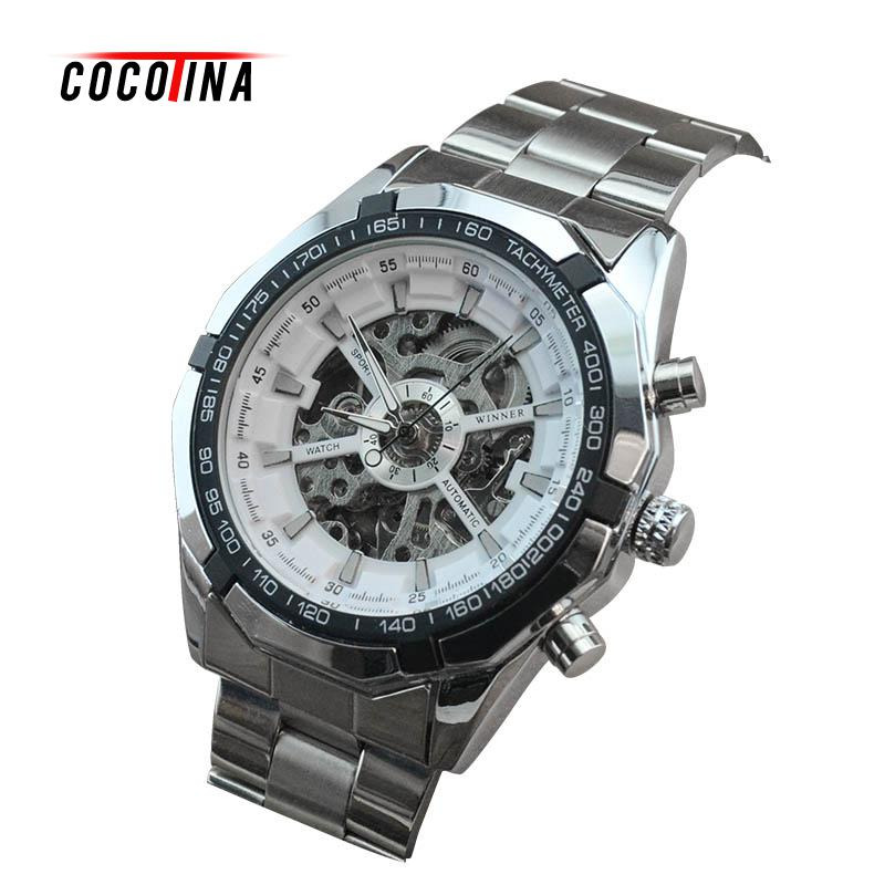 COCOTINA 2016 New Luxury Sport Clock Men Automatic Watch Skeleton Military Watch Mechanical Male Watch #WT0122<br>