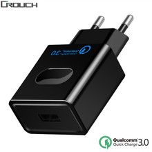 Crouch USB Charger Quick Charge 3.0 Fast Charger QC3.0 QC2.0 USB Adapter 18W Portable Wall Charger for Mobile Phone USB Chargers(China)