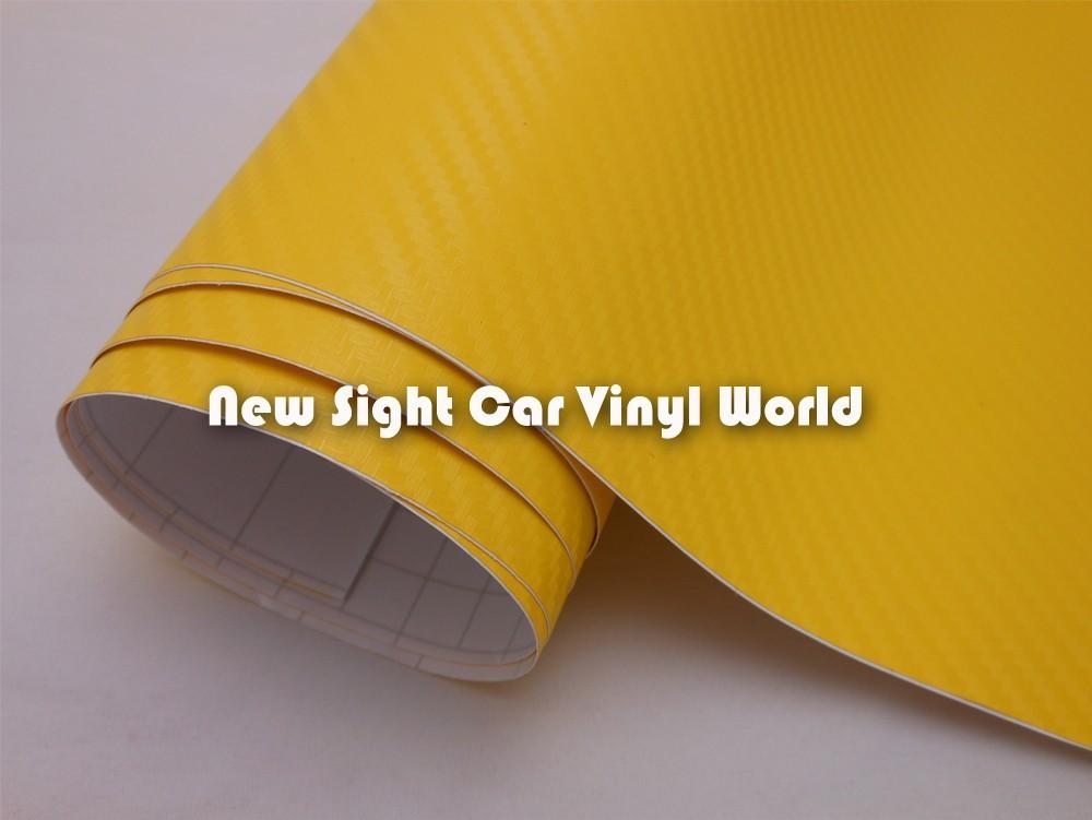 High-Quality-Yellow-Carbon-Fiber-Vinyl-Wrap-03