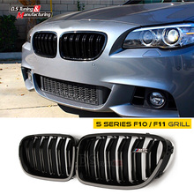 F10 Front Bumper Grill For BMW 5 Series F10 F11 Grille Mesh with M5 Logo Gloss Black 528i 535i