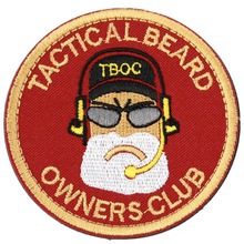 "1 pcs New  Red Tactical Beard Owners Club ""BREAD MAN\"" PVC Armband Morale Rubber Patch Worldwide Store"