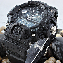 EPOZZ Male Digital Sports Watch Men G Style Rubber Strap waterproof 50M Swim Watch Big Dial Alarm Chronograph relogio masculino(China)