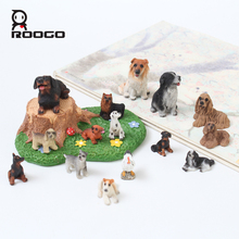 Roogo 6 pcs/set Dogs Decoration mini Polyresin Dog Figurines different shape tabletop ornament random shipping(China)