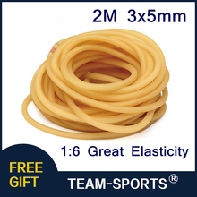 2M 3x5mm Strong Tension Latex Resilient Tube Powerful Elastic Slingshot Rubber Band Tube Resilient  Hunting Catapult Replacement